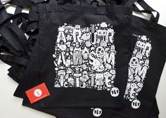 ARTRANSMITTE x AARGH toycon.uk exclusive tote baglimited to 50pcs / available at artransmitte booth 6.4.2013 to all spending above £25 artransmitte.com / toyconuk.com