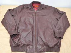 Hudson Outerwear Men's Brown Leather Jacket Size 5XL 5X #HudsonOuterwear #BasicJacket