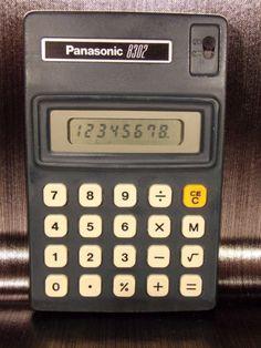 Calculatrice-calculator-PANASONIC-JE-8302U-8302-vintage-Japan