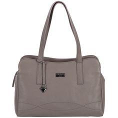 Cultured London Dark grey 'Lorin' soft leather handbag   Debenhams