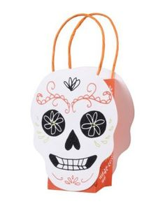 Treat bags for Halloween! Get them here: http://www.bhg.com/shop/paper-source-skull-treat-bags-p52265a97e4b0641492d74beb.html