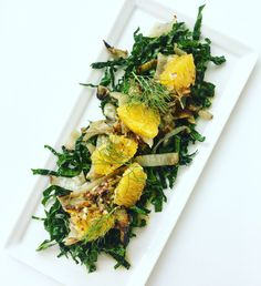 Grilled Fennel, Kale and Orange Salad