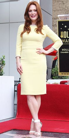 We're Loving: Stars in Yellow Dresses - Julianne Moore from #InStyle   I love yellow!