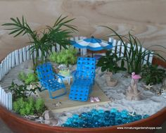 miniaturegarden #fairygarden #beachgarden Beach theme fairy garden ...