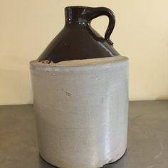 Whiskey Jug  Stoneware Crock  Made in USA  by PineStreetPickers