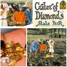 Crater of Diamonds State Park, Arkansas.  Dig for diamonds. Great waterpark feature!!