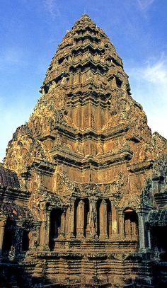 Temple at Angkor Wat, Angkor, Cambodia
