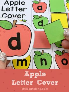 Apple Letter Cover Early Learning Activities, Apple Seeds, Letter Recognition, Coloring Sheets, Preschool, Johnny Appleseed, Lettering, Cover, Fall