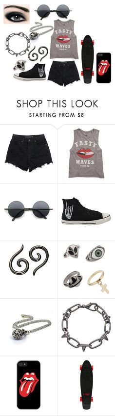 """Outfit #3"" by just-a-no-body ❤ liked on Polyvore featuring Alexander Wang, Billabong, Retrò, Bourjois, Converse, Topman, Blu Bijoux and D-Street"