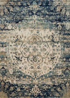 Shop our Loloi Rugs Anastasia Blue Ivory Area Rug. This beautiful Loloi Anastasia Rug Blue Ivory is a unique, new rug pattern available now on sale from the trusted experts. Decor, Ivory Rug, Traditional Rugs, Blue Rug, Fine Rugs, Rugs, Loloi, Bohemian Rug, Rugs In Living Room
