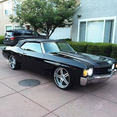 #BecauseSS 72 chevelle convertible split 5 star modular forged wheels brushed