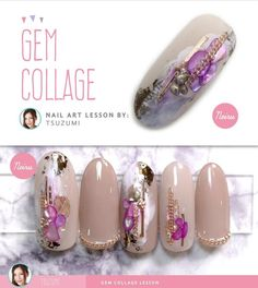 Online Nail Art TrainingさんはInstagramを利用しています:「Neiru sensei Tsuzumi shows an easy way to dress up any nail set in a luxurious and gorgeous style. Perfect for salon work and clients for…」
