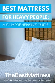 Best Mattress for Heavy People: A Comprehensive Guide What's the best mattress for people with heavier built? To help you get started on your search, we put together a guide of what exactly you should look for to find the best mattresses for heavy peopl Best Mattress, Mattress Brands, Bedroom Furniture, Bedroom Decor, Small Trailer, Put Together, Mattresses, House Design, Search