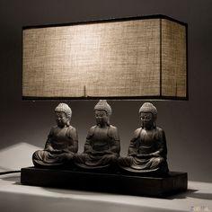 Kare Design Zittende Buddah Tafellamp