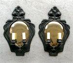 """B4 20th Century Design - Swedish """"Jugend"""" art nouveau bronze sconces"""
