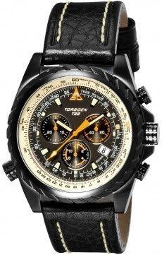 ce950fb6343 Torgoen Swiss Men s Chronograph Watch with Flight Computer and Black  Italian Leather Strap