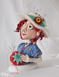 Pin cushion!!!  Fanciful Cloth Dolls by C Publishing