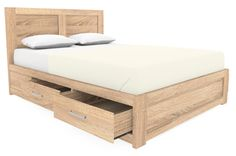 Cuba Oak Bed With Drawers