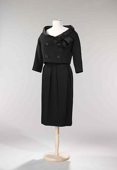 Cocktail Ensemble, Yves Saint Laurent (French (born Algeria) Oran 1936–2008 Paris) for the House of Dior (French, founded 1947): fall/winter 1959, French, wool/silk.