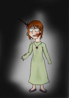 #Ghost#Murder#Child#Girl#Halloween  #digital #art #hand drawing #Microsoft Pro 4