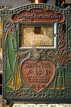 Old Fortune telling machine by elba