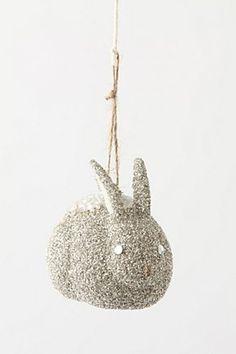 Snow Rabbit Ornament - ANTHROPOLOGIE