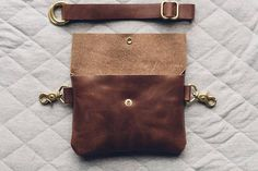 the design that started it all. our hip bag design has become a fast favorite fo. the design that started it all. our hip bag design has become a fast favorite for many due to its ability to be easi Leather Fanny Pack, Leather Belt Bag, Leather Gifts, Leather Craft, Diy Purse, Hip Bag, Leather Projects, Leather Design, Leather Working