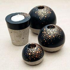 Kerzenständer+Sternenstaub+von+noz!design+auf+DaWanda.com