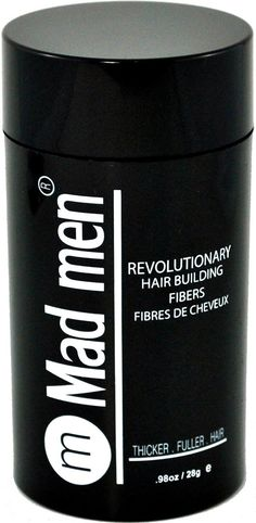 Mad Men Hair Building Fibers - Hair Thickener | Hair Loss Concealer | Hair Loss Treatment. Available in 8 Color Shades - Black, Dark Brown, Medium Brown, Light Brown, Dark Blond, Light Blond, Auburn, Gray. Looks and Feels Like Real Hair. 28 grams / 0.98 oz -- New and awesome product awaits you, Read it now  : Hair Loss