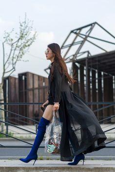 Street style from Shanghai Fashion Week Fall 2018