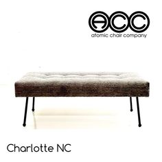 The Astro Iron Ottoman - Pick your fabric and size today! New Mid Century Modern Designs by Atomic Chair Company!