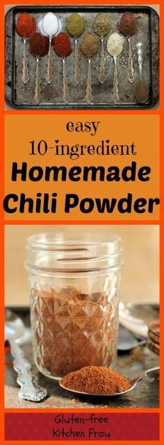 Flavorful homemade chili powder. Ten ingredients that make a rich and complex mix. You won't want to buy the commercially-made stuff again.