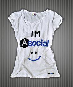 Idee Regalo e Kit : Maglietta bianca cotone fiammato donna Sbrand