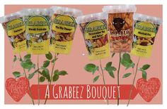 Forget the Chocolate and Candy for your special someone this Valentine's Day, Get them a Grabeez Bouquet instead! #GrabeezLove #ValentinesDay2015 #LoveSnacks http://www.tropicalfoods.com/7500/the-perfect-valentines-gift/