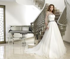 Lace Wedding Dresses, Fishtail Wedding Dresses & Satin Bridal Gowns by Caroline Castigliano - The Oscar Collection