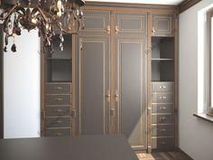 Встроенный гардеробный шкаф