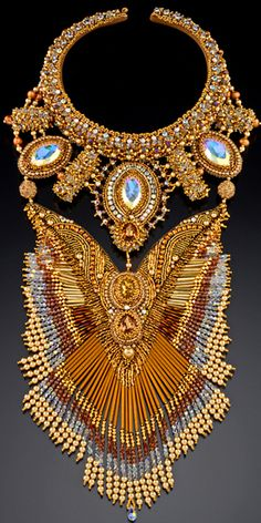 intricate necklace by Sherry Serafini - a little over the top. . . maybe something to wear to book club or town meeting . . no?