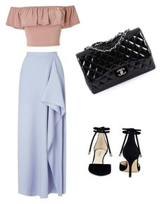 """Untitled #23"" by amandaberger on Polyvore featuring Miss Selfridge, Roland Mouret, Nine West and Chanel"