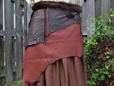 Leather Wrap Skirt Belt Tribal Viking by FolkOfTheWoodCrafts, $124.00