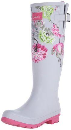 Amazon.com   Joules Women's Welly Print Rain Boot   Mid-Calf