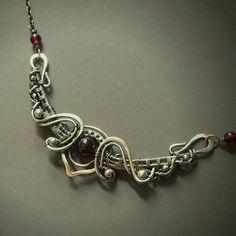 Garnet Curved Bar Necklace, Sterling Silver Curved Bar Necklace, Fairytale Necklace, Red Necklace, Arc Necklace, Curved Bar Pendant