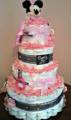 Diaper cake to match Lambs & Ivy Duchess