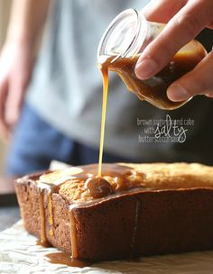 Brown Sugar Pound Cake with Salty Butterscotch Sauce