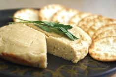Baked Cashew Cheese - Well Vegan - added 1 T of yeast flakes, a sprig of dried thyme and a pinch of black pepper. Vegan Cheese Recipes, Cashew Cheese, Vegan Foods, Vegan Snacks, Vegan Dishes, Raw Cheese, Cheese Fruit, Vegan Lunches, Vegan Desserts