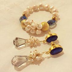 Set de perlas y cristales by Luz Marina Valero