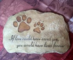 pet memorial - if love could have saved you, you would have lived forever