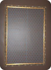 store bought frame with chicken wire I spraypainted blue DISPLAY BOARD #display #diy