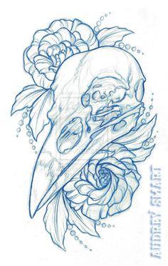 Lisianthus by oodreysmart Tattoo Sketches, Tattoo Drawings, Drawing Sketches, Cool Drawings, Body Art Tattoos, Tattoo Flash Art, Animal Skulls, Skull Art, Drawing Reference
