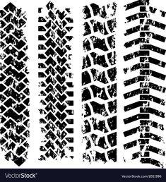 Illustration of Tire tracks vector art, clipart and stock vectors. Dirt Bike Tires, Dirt Bike Room, Tyre Tracks, Stammestattoo Designs, Shirt Designs, Sketch Manga, Bike Tattoos, Dirt Bike Tattoo, Tractor Tire