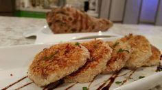 Tortitas de yautia rellenas de queso